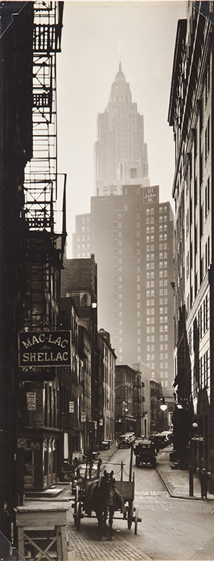 Cliff and Ferry Streets by Berenice Abbott