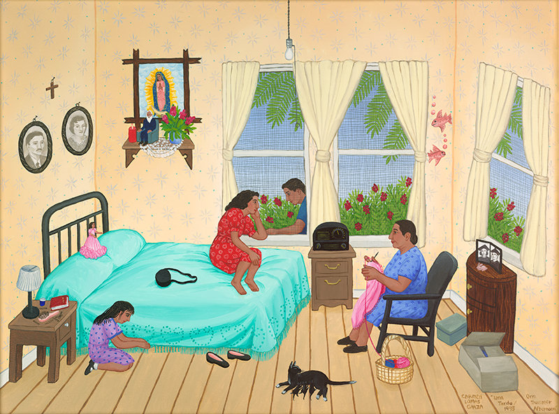 Una Tarde / One Summer Afternoon by Carmen Lomas Garza