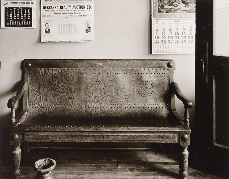 Bench, Cahow's Barbershop, Chapman, Nebraska by Wright Morris