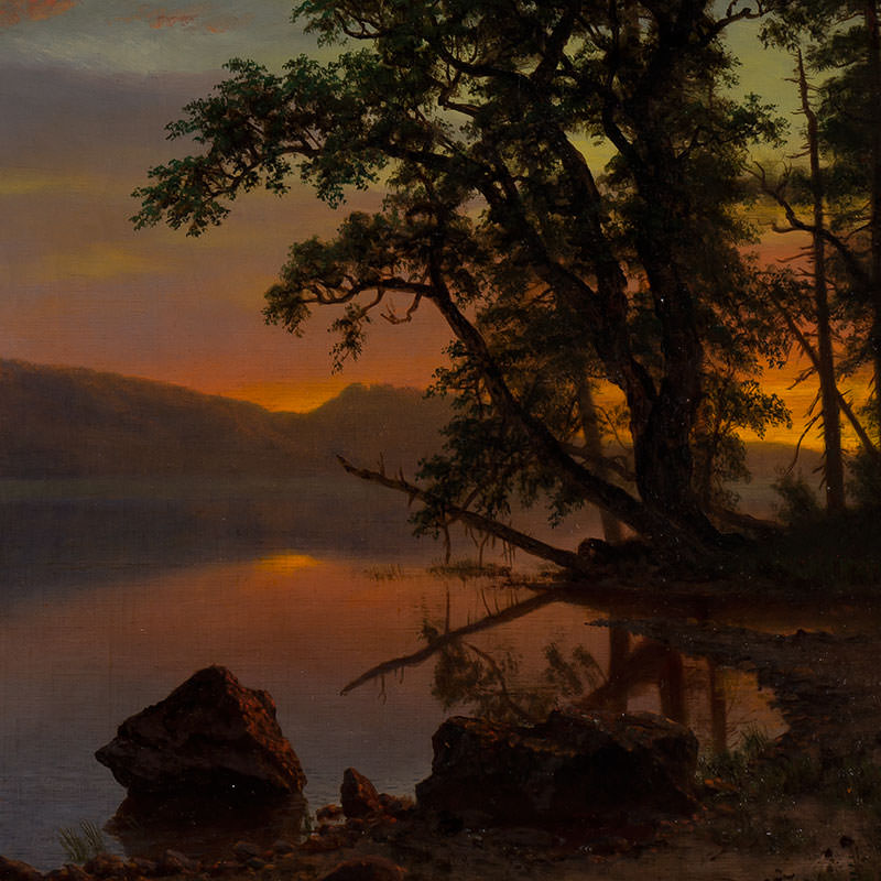 Detail of River Landscape by Albert Bierstadt