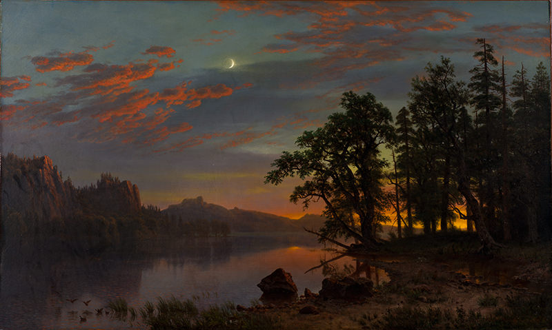 River Landscape by Albert Bierstadt